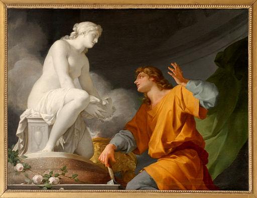 Pygmalion priant Vénus d'animer sa statue Jean-Baptiste Regnault