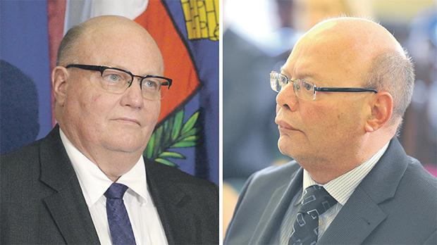 Attorney General Peter Grech and Police Commissioner Lawrence Cutajar. Photo credit: Times of Malta