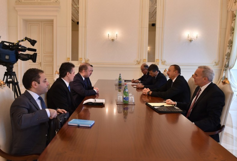 Prime Minister Joseph Muscat during secret meeting with President Ilham Aliyev in Baku, Azerbaijan
