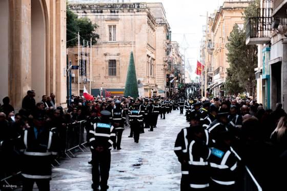 Heavy Police presence Republic Day - Photo Credit Jon Borg