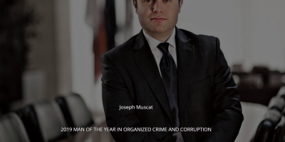Joseph Muscat 2019 Man of the year in Corruption, Organised Crime