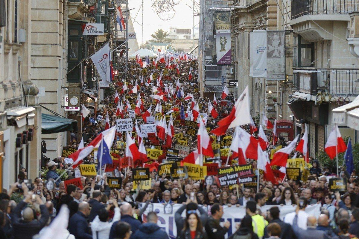 Protest against corruption Malta