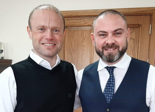 Joseph Muscat and Owen Bonnici