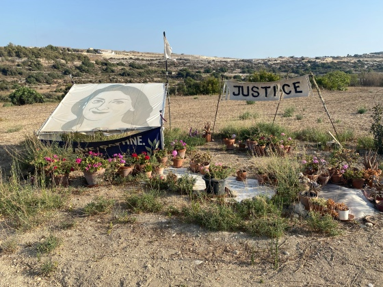 Daphne Caruana Galizia site of explosion